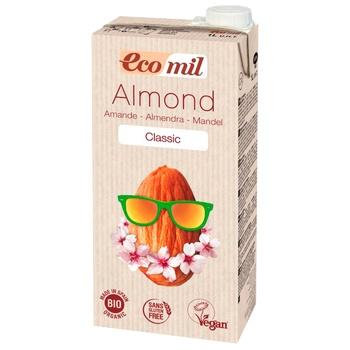 Растительное молоко Ecomil из миндаля классическое органическое 1л