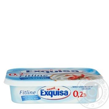 Сир Exguisa Fitline вершковий 0,2% 200г - купити, ціни на МегаМаркет - фото 1