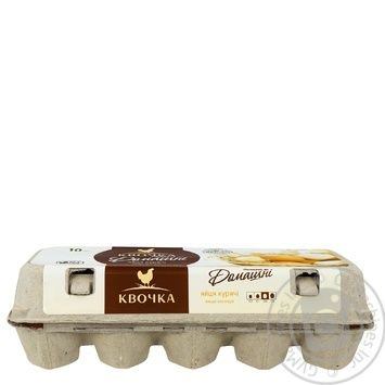 Kvochka selected chicken eggs C0 10pcs - buy, prices for Furshet - image 3