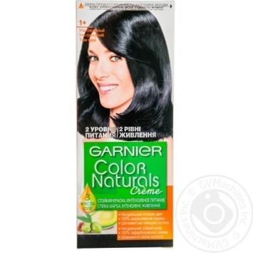 Фарба для волосся Garnier Color Naturals Creme з 3-ма оліями №1+ Ультрачорний - купити, ціни на Novus - фото 1