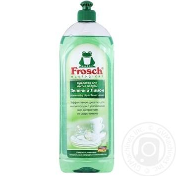Бальзам для миття посуду Frosch Зелений лимон 1л - купити, ціни на Метро - фото 1