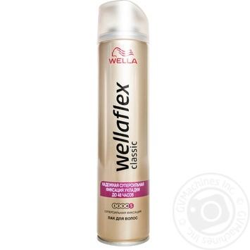 Лак для волос Wellaflex Классик суперсильная фиксация 250мл - купить, цены на ЕКО Маркет - фото 1