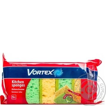 Губка кухонна Vortex 5шт - купити, ціни на Восторг - фото 1