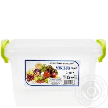 Контейнер пищевой Minibox №2 с крышкой 0,45л - купить, цены на Таврия В - фото 1