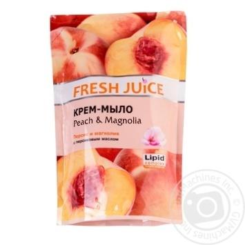 Мыло жидкое Fresh juice персик и магнолия дой-пак 460мл - купить, цены на Novus - фото 6