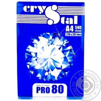 Бумага Crystal Pro А4 80г/м2 500 листов - купить, цены на Ашан - фото 1