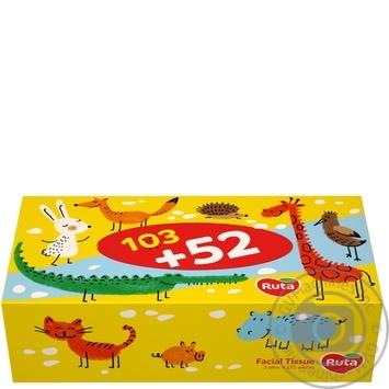 Скидка на Салфетки косметические Ruta Kids 155шт