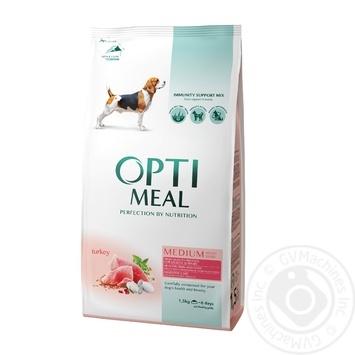 Корм д/собак Optimeal средних пород индейка сухой 1,5кг