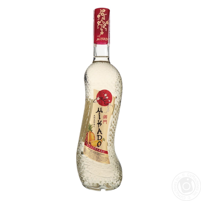 Купить 499676, Вино Микадо Ананас белое сладкое 11% 0, 7л, Мікадо