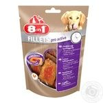 Treats for dogs 8in1 Fillets Chicken fillet for active dogs 80g