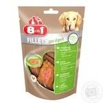 Ласощі для собак 8in1 Fillets Куряче філе для чутливого травлення 80г
