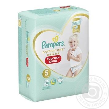 Pampers Premium Care Diaper Panties 5 Junior diaper pants 12-17 kg 20 pcs - buy, prices for Novus - image 2
