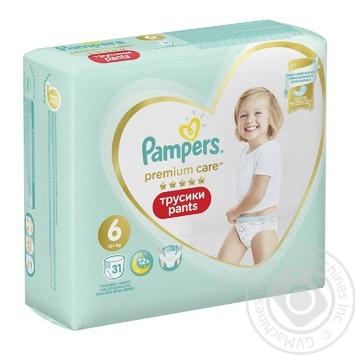 Трусики Pampers Premium Care 15+ кг 6 Extra large 31шт - купить, цены на Фуршет - фото 3