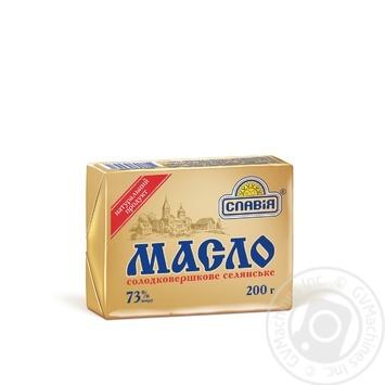 Масло Славія Селянське 73% 200г