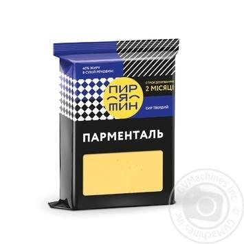 Сыр Пирятин Парменталь твердый срок созревания 2 месяца 40% 160г - купить, цены на Фуршет - фото 1