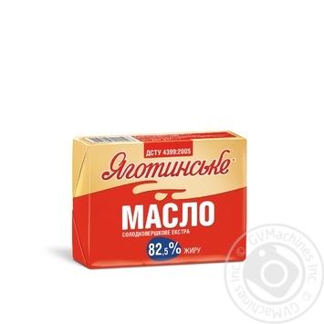 Масло солодковершкове екстра 82.5% Яготинське 200г - купити, ціни на ЕКО Маркет - фото 1