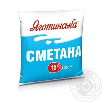 Сметана Яготинська 15% 400г - купити, ціни на Novus - фото 1