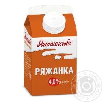 Ряженка Яготинская 4% 450г - купить, цены на Фуршет - фото 1