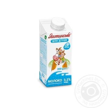 Молоко Яготинское для детей 3,2% от 9 месяцев тетра пак 200г - купить, цены на Novus - фото 1