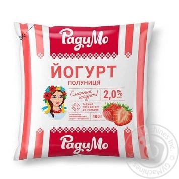 Йогурт РадиМо Клубника 2% 400г