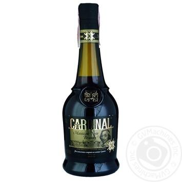 Бренди Cardinal Черная мантия виноградный ординарный 40% 0,5л