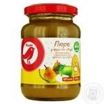 Пюре Ашан Груша-яблоко для детей с 4 месяцев 200г
