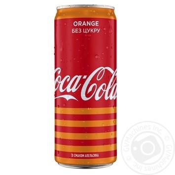 Напиток Coca-Cola Zero Orange сильногазированный ж/б 0,33л - купить, цены на Novus - фото 1