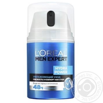 Увлажняющее средство L'oreal Paris Men Expert Hydra Power с освежающим эффектом для лица 50мл - купить, цены на МегаМаркет - фото 2