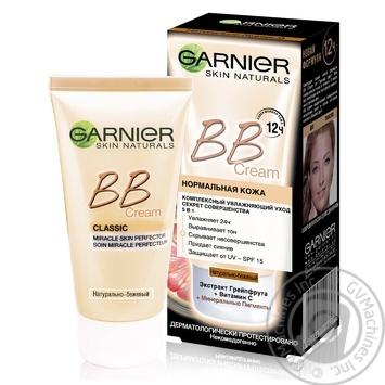 Крем для лица Garnier Skin Naturals 5в1 дневной натурально бежевый тональный увлажняющий 50мл - купить, цены на МегаМаркет - фото 3