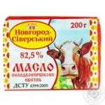 Масло Новгород-Сіверський Селянське солодковершкове 82.5% 200г