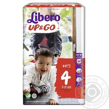 Подгузники-трусики Libero Up&Go 4 7-11кг 44шт - купить, цены на УльтраМаркет - фото 2