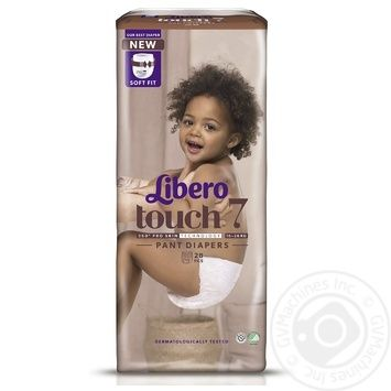 Подгузники-трусики Libero Touch 7 16-26кг 30шт - купить, цены на Восторг - фото 2