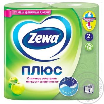 Туалетний папір Zewa Aqua Tube аромат яблука 2 шари 184 відриви 4шт - купити, ціни на Novus - фото 2