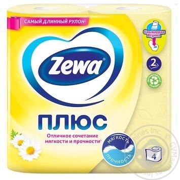 Туалетная бумага Zewa Плюс с ароматом ромашки 2-х слойная 4шт - купить, цены на ЕКО Маркет - фото 2