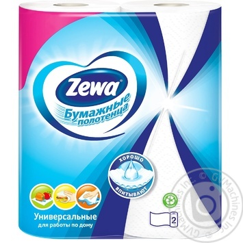 Zewa white 2-ply paper towel 2pcs - buy, prices for MegaMarket - image 2