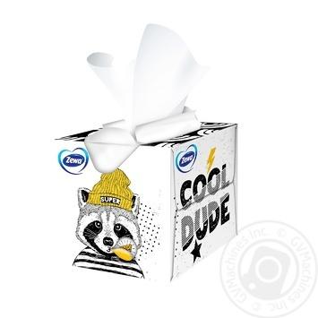 Салфетки косметические Zewa Kids Zoo Cube детские 3-х слойные 60шт - купить, цены на Novus - фото 6
