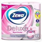 Туалетная бумага Zewa Deluxe Royal Orchid розовая 3-х слойная 4шт - купить, цены на МегаМаркет - фото 2
