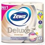 Туалетная бумага Zewa Deluxe Aroma Spa 3х слойная 4шт - купить, цены на МегаМаркет - фото 2