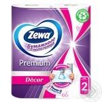Полотенца бумажные Zewa Premium Decor белые 2-х слойные 2шт - купить, цены на МегаМаркет - фото 3
