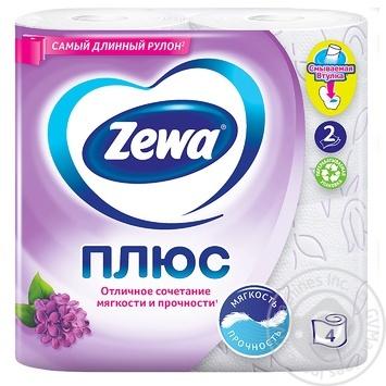 Папiр туалетний Zewa Плюс аромат бузку двошаровий 4шт - купити, ціни на МегаМаркет - фото 2