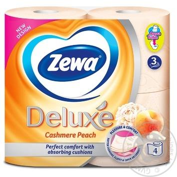 Zewa Deluxe Cashmere Peach 3-ply toilet paper 4pcs - buy, prices for Novus - image 2