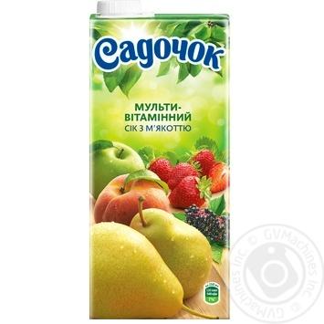Сок Садочок Мультивитамин с мякотью 0.95л - купить, цены на Фуршет - фото 4