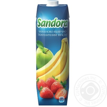 Нектар Sandora бананово-яблучно-полуничний 950мл - купити, ціни на МегаМаркет - фото 3