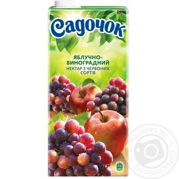 Нектар Садочок яблочно-виноградный из красных сортов 1,93л - купить, цены на Novus - фото 4
