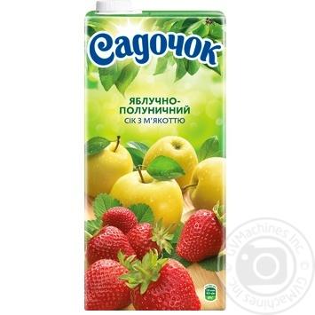 Сок Садочок яблочно-клубничный 1,93л - купить, цены на Ашан - фото 4