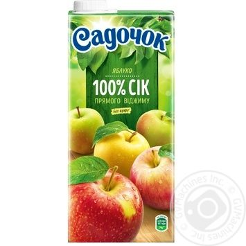 Сок Садочок яблочный прямого отжима 0,95л - купить, цены на Фуршет - фото 2