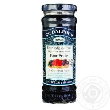 Джем Сент Далфур Четыре ягоды 284г Франция - купить, цены на МегаМаркет - фото 3