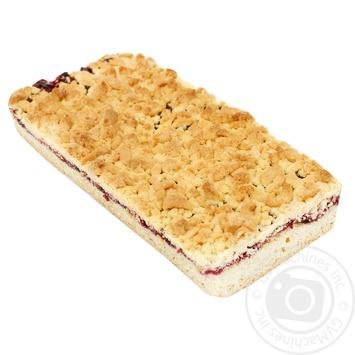 Пирог тертый с малиновой начинкой весовой