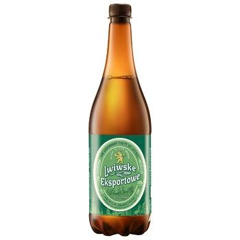 Пиво Львівське Exportowe світле пастеризоване 5% 0,95л - купити, ціни на Novus - фото 1
