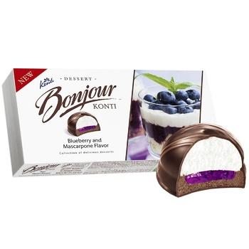 Десерт Konti Bonjour со вкусом черника-маскарпоне 232 г - купить, цены на Фуршет - фото 2